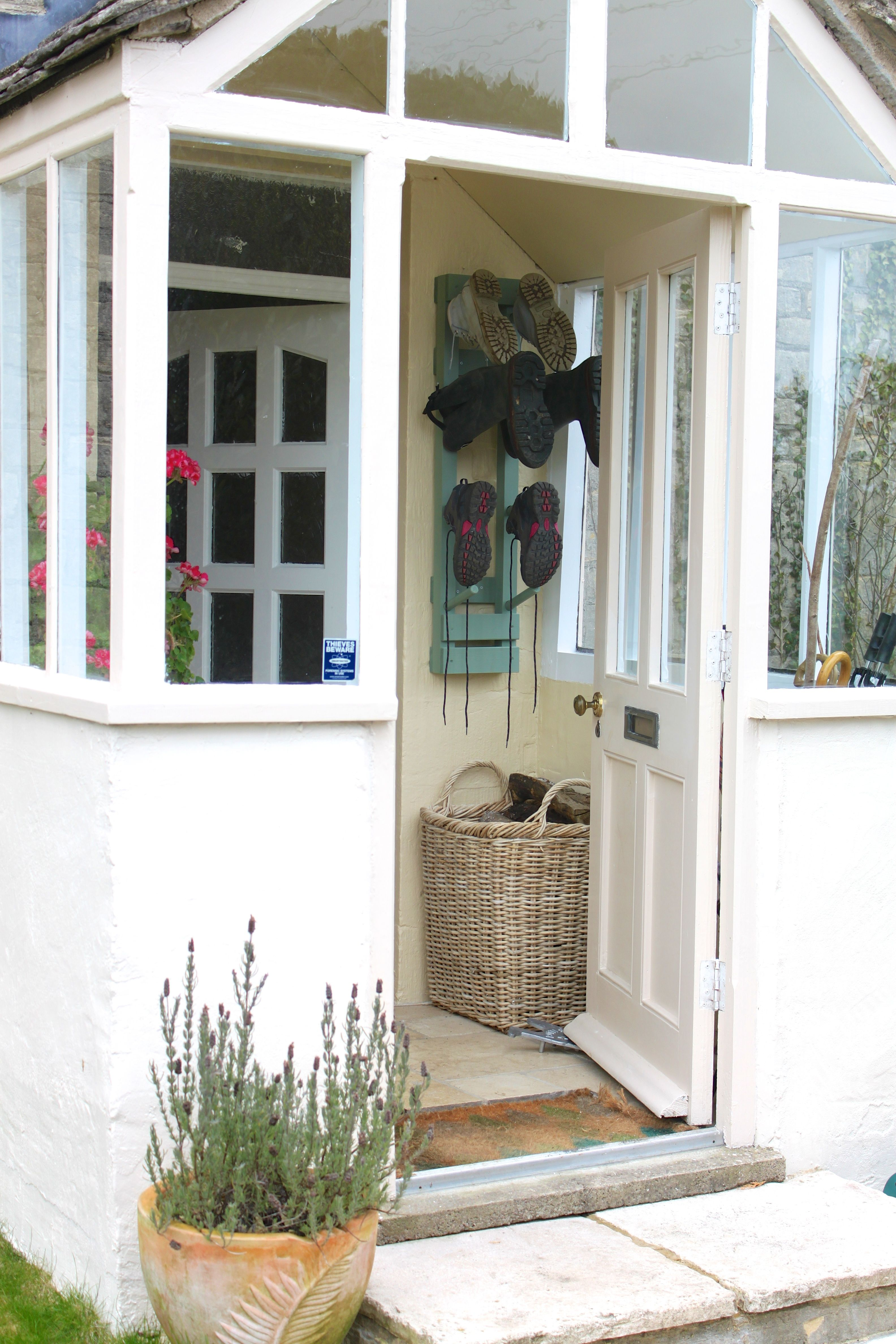 4 pair welly rack being used indoors keeping the porch clutter free ...