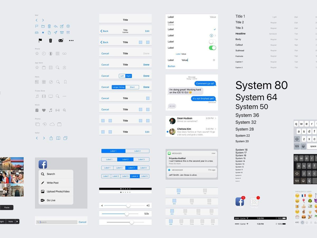 Free iOS 10 UI Kit (iPhone) for Sketch - Photoshop - Figma
