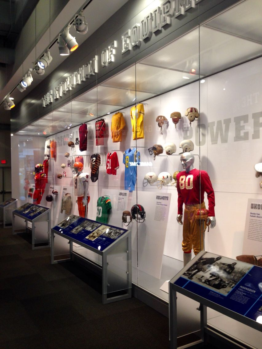 College Football Hall Of Fame Atlanta Ga Equipment Display