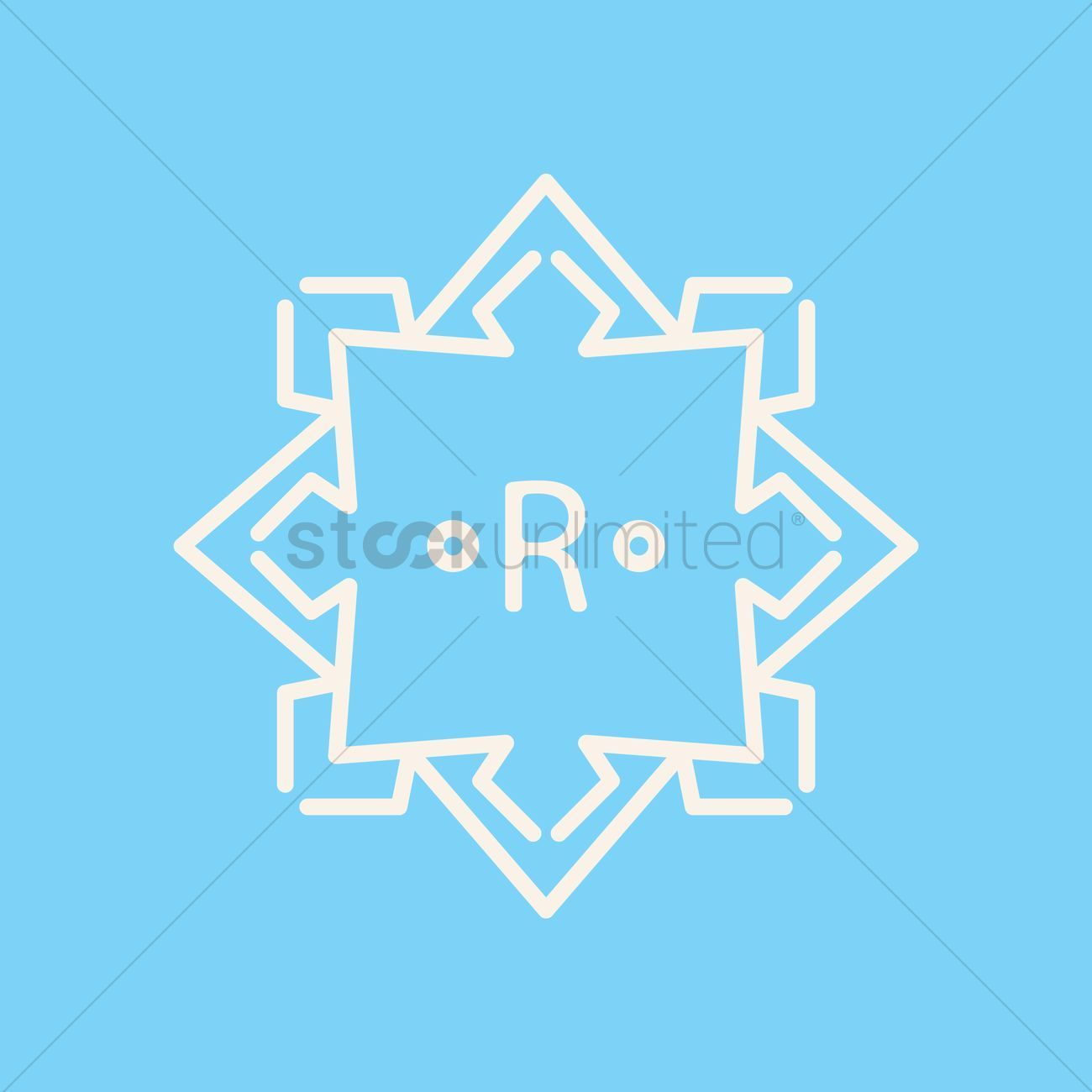 ornament design element stock vector Symmetrical ornament design element stock vector