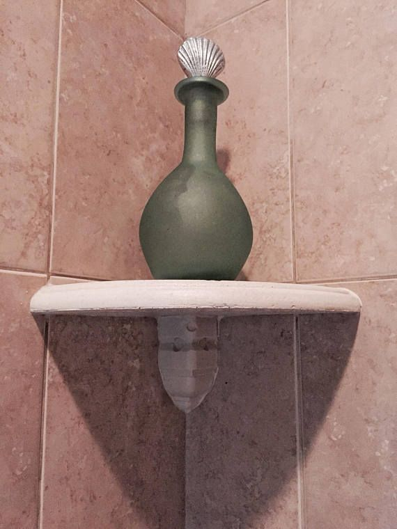 8 Bathroom Shampoo Shower Corner Shelf After Tile Add On Travertine Shower Corner Shelf Corner Shelves Diy Corner Shelf