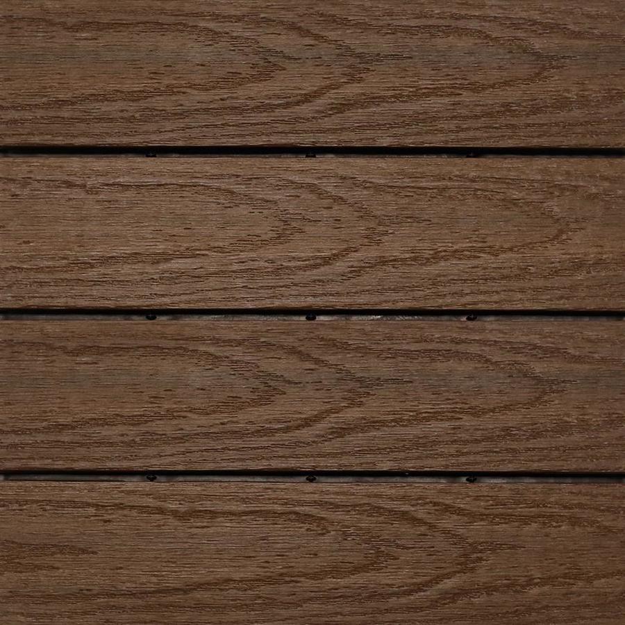 Newtechwood Ultrashield Naturale 1 Ft X 1 Ft Quick Deck Outdoor Composite Deck Tile In Brazilian Ipe 10 Deck Tile Interlocking Deck Tiles Composite Decking