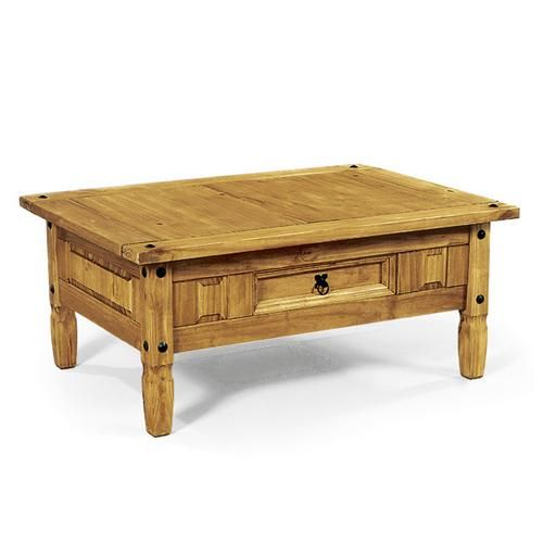 Rustic Mexican Pine Furniture | Corona Mexican Pine Furniture Dark Corona  Pine Coffee Table   Review