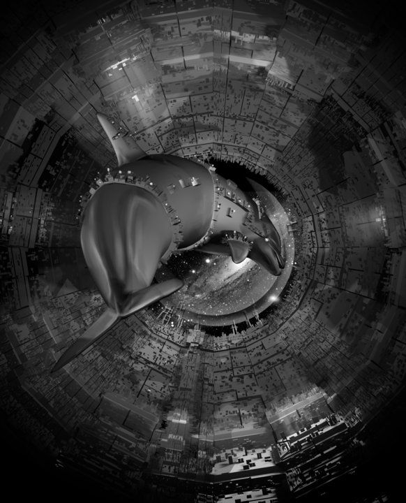 Illustrations by emel akiah at Coroflot.com Sci fi space dolphin for Terra Sol
