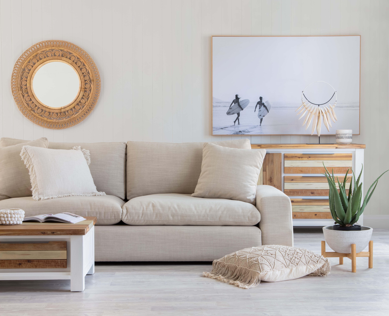 Benji 3 Seater Sofa With Halifax Coffee Table And Bu