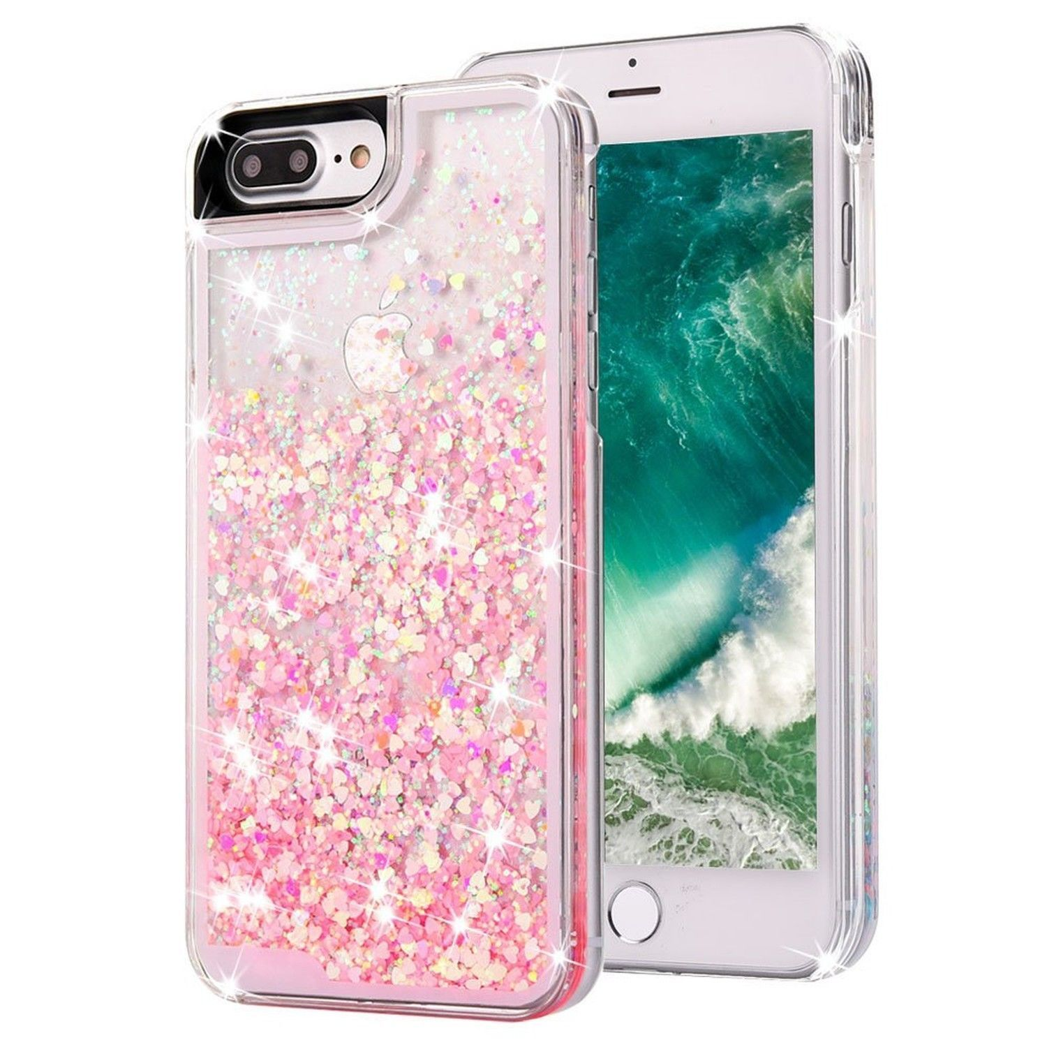 premium selection 20b88 d6dff LIQUID PINK GLITTER New Cute Bling Cell Phone Case Cover For iPHONE ...