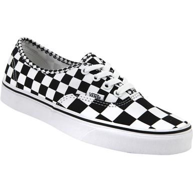 39bf887fd7 Vans Authentic Mix Checker Skate Shoes - Mens Black White Checkered