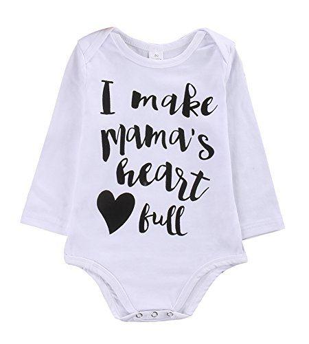 Newborn Infant Baby Boy Clothes Tshirt White Long Sleeve Romper Set