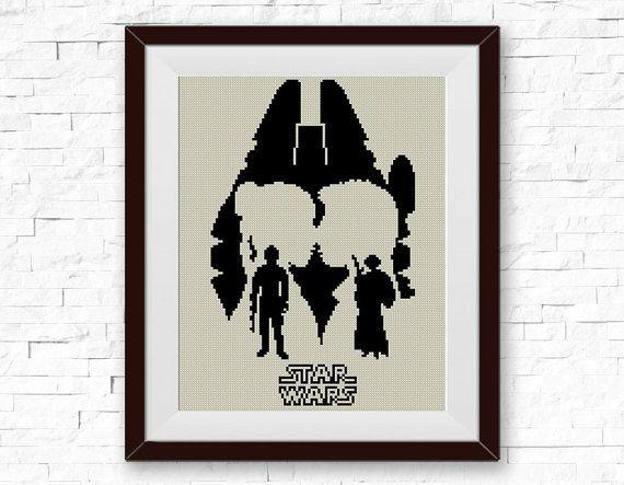 BOGO FREE Star Wars Cross Stitch Pattern Han Solo by StitchLine