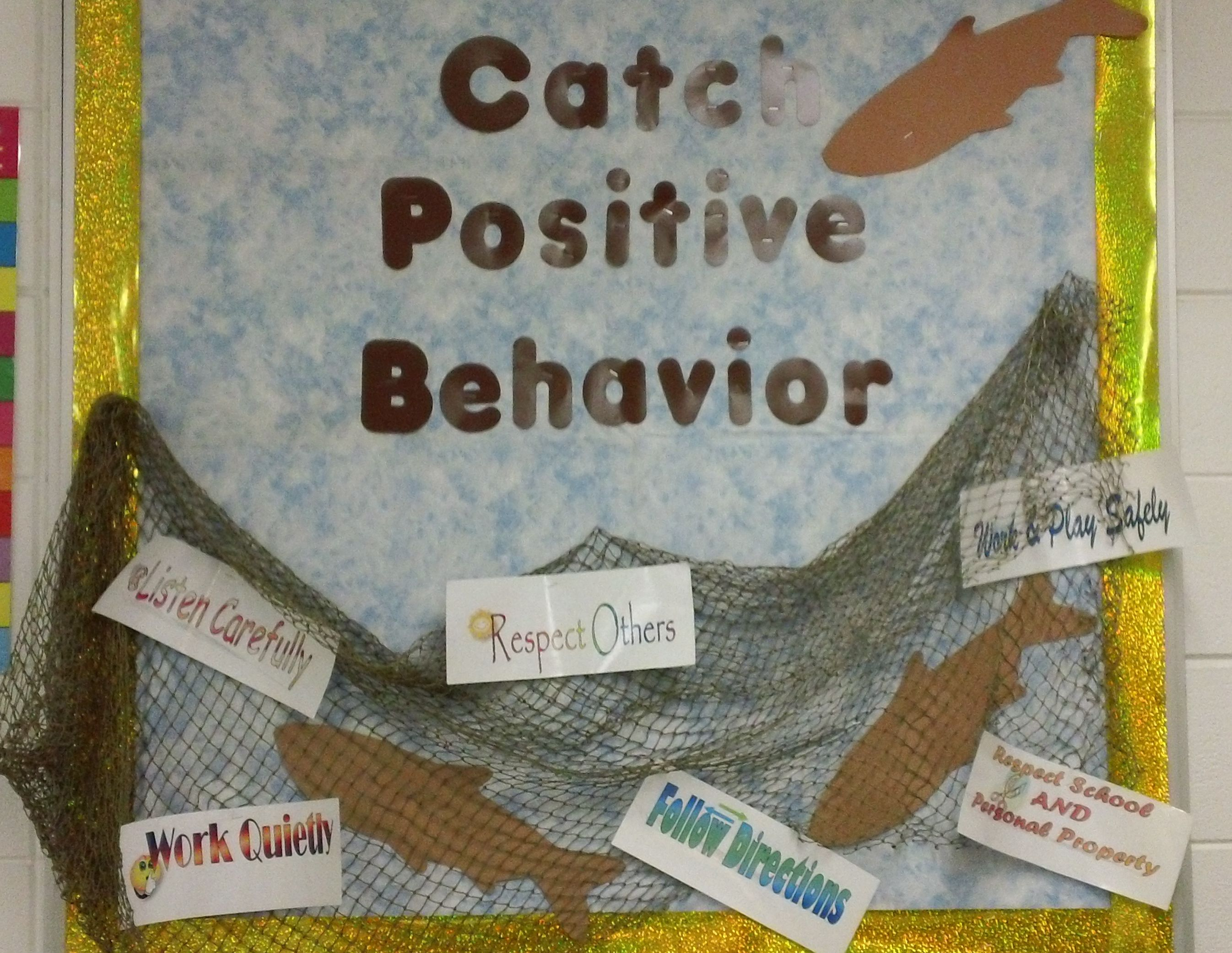 Classroom Party Ideas For Good Behavior ~ Hunting fishing themed classroom quot catch positive