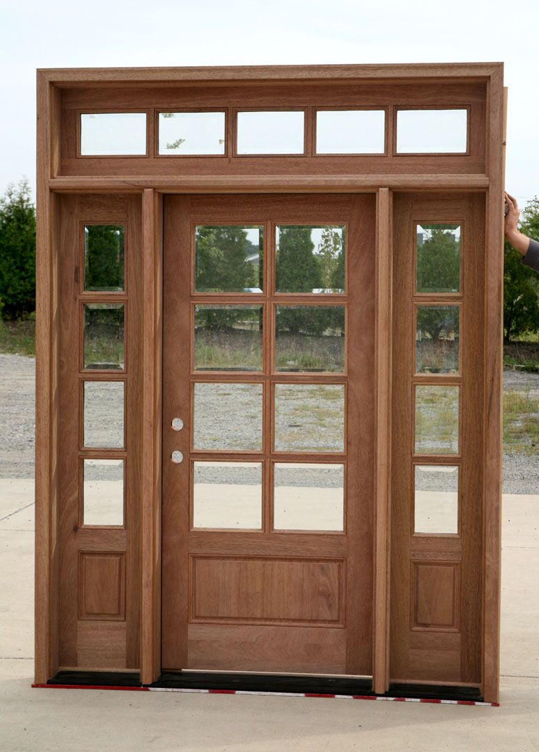 exterior French Doors with sidelights and transom. Change glass for privacy : transom doors exterior - pezcame.com