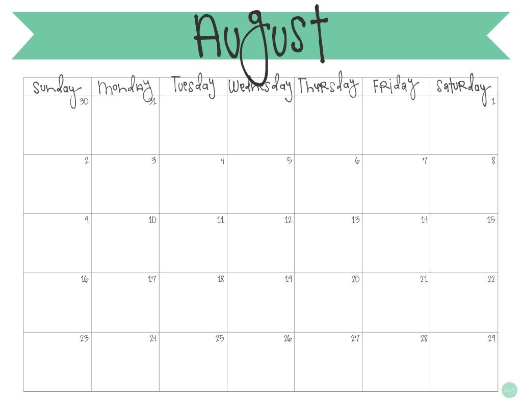 picture about Printable Monthly Calendar August identified as August 2015 Calendar - Free of charge Printable Challenge Daily life