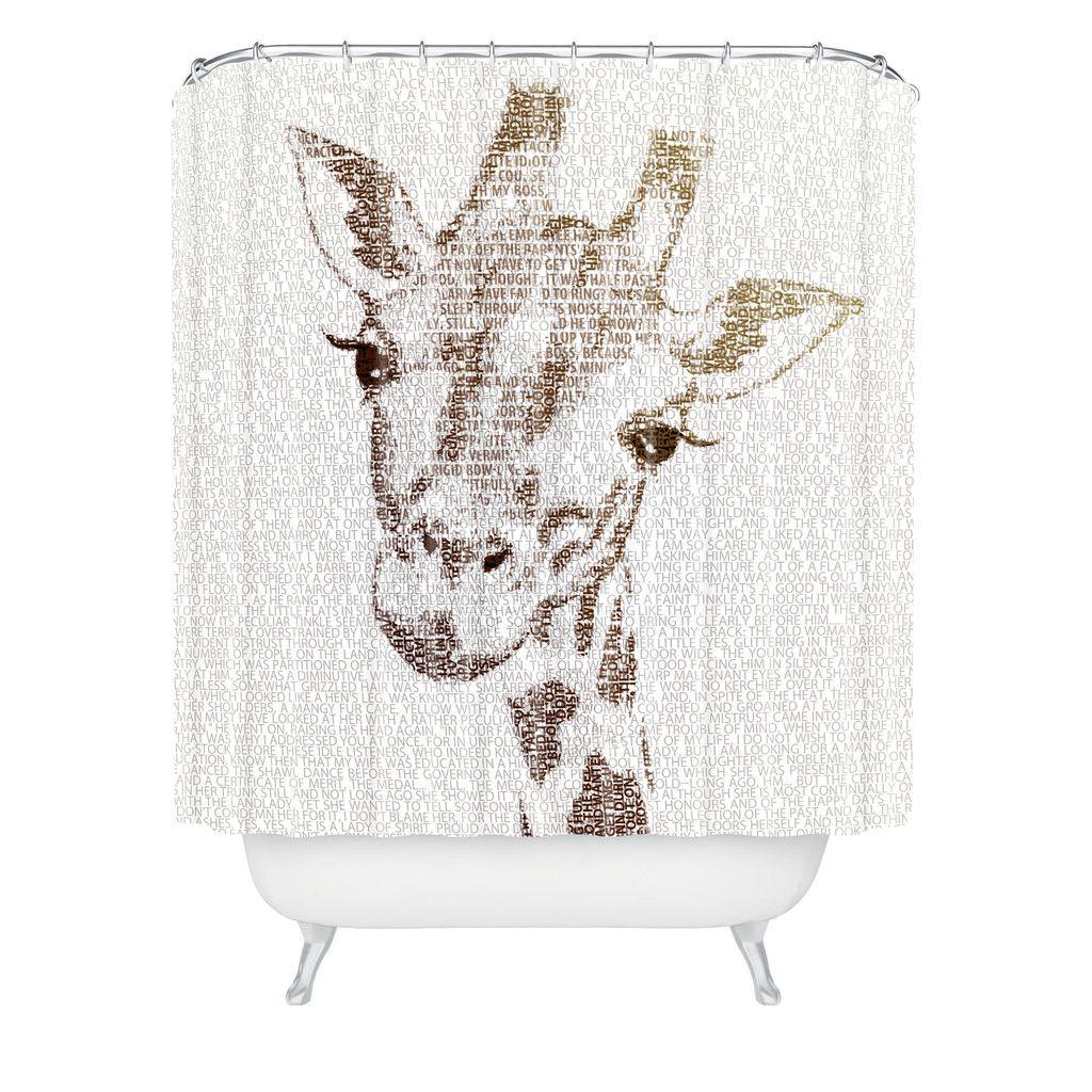 Exceptional Belle13 The Intellectual Giraffe Shower Curtain