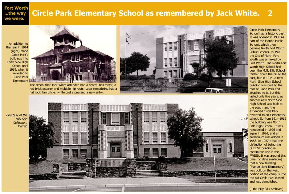 Circle Park Elementary School Fort Worth Fort Worth Old Fort Dallas Fort Worth