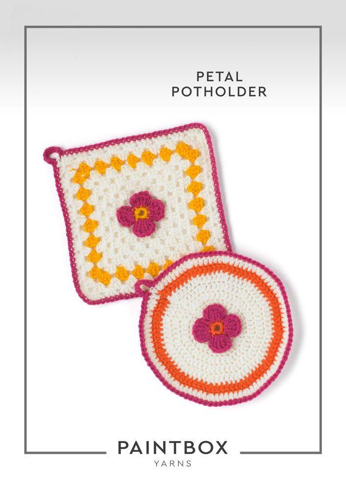 Petal Potholder in Paintbox Yarns Simply DK - Downloadable PDF ...