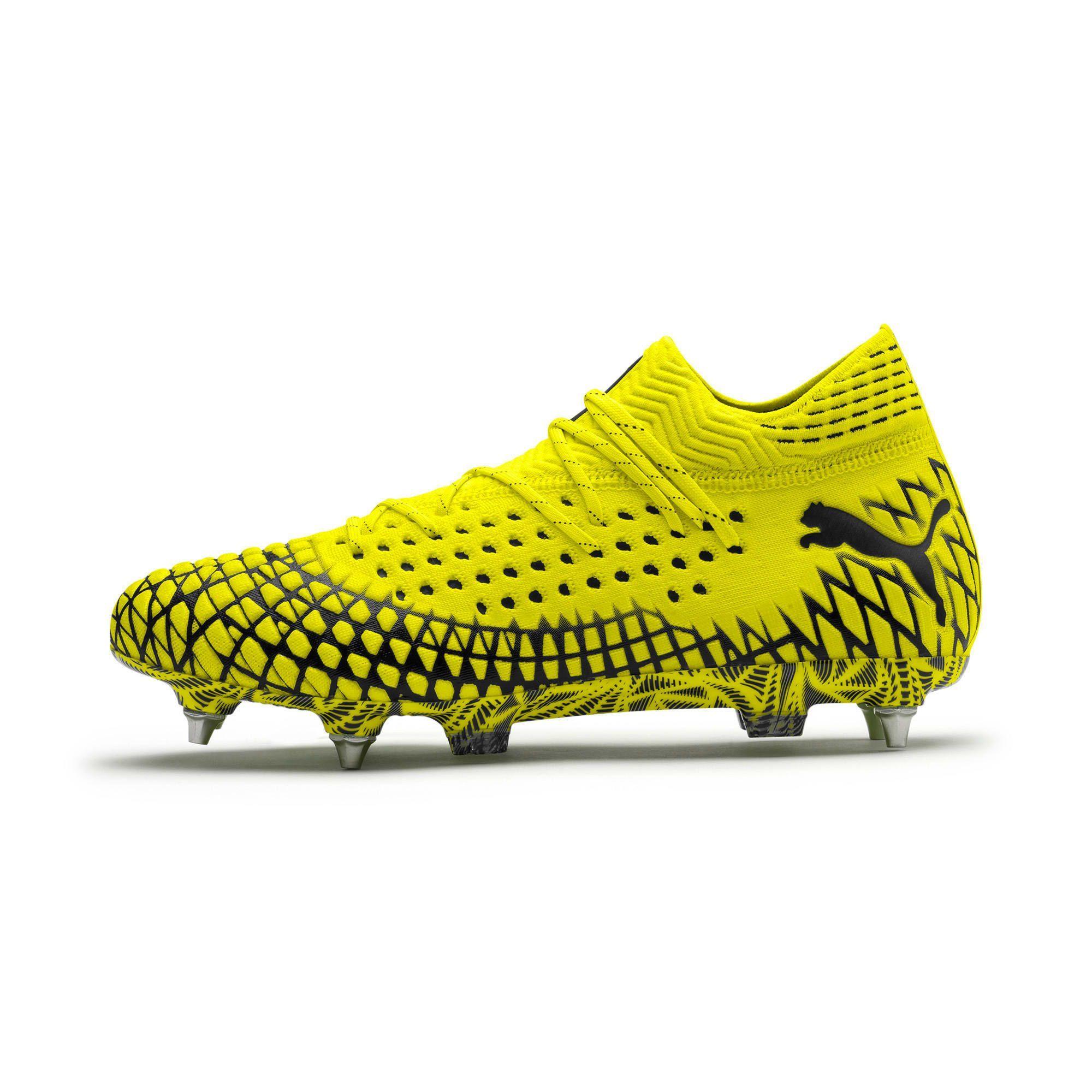 Puma Future 4 1 Netfit Mxsg Football Boots In Yellow Alert Black Size 10 5 Alertblack Boots Football Futur Football Boots Mens Football Boots Black Puma