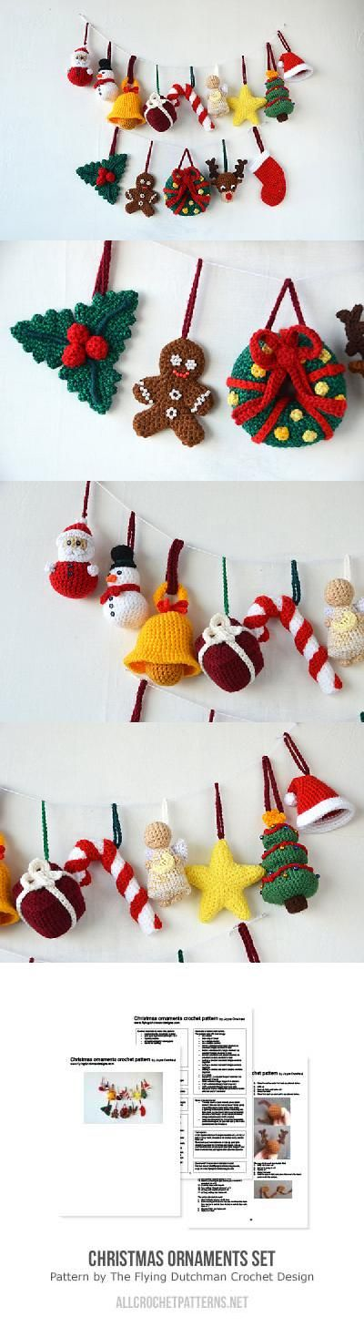 Christmas ornaments set crochet pattern by The Flying Dutchman ...