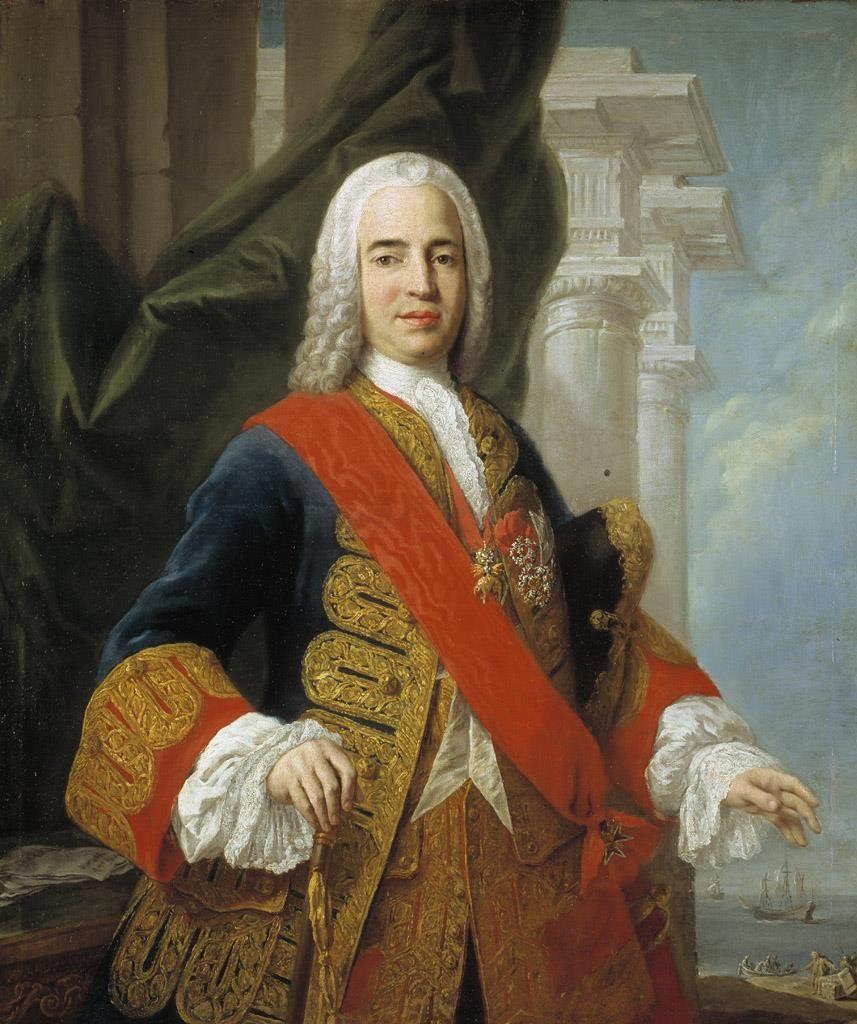 El marqués de la Ensenada (Don Zenón de Somodevilla y Bengoechea). Amigoni, Jacopo