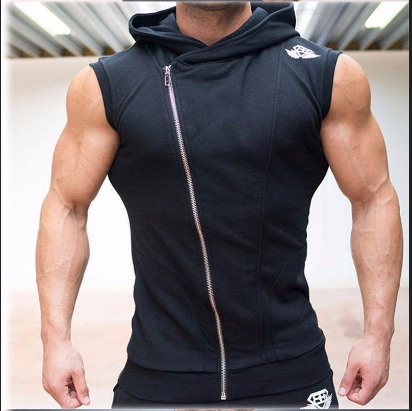 Mens Gyms Hoodie Singlets Sweatshirts Sleeveless Hoodies