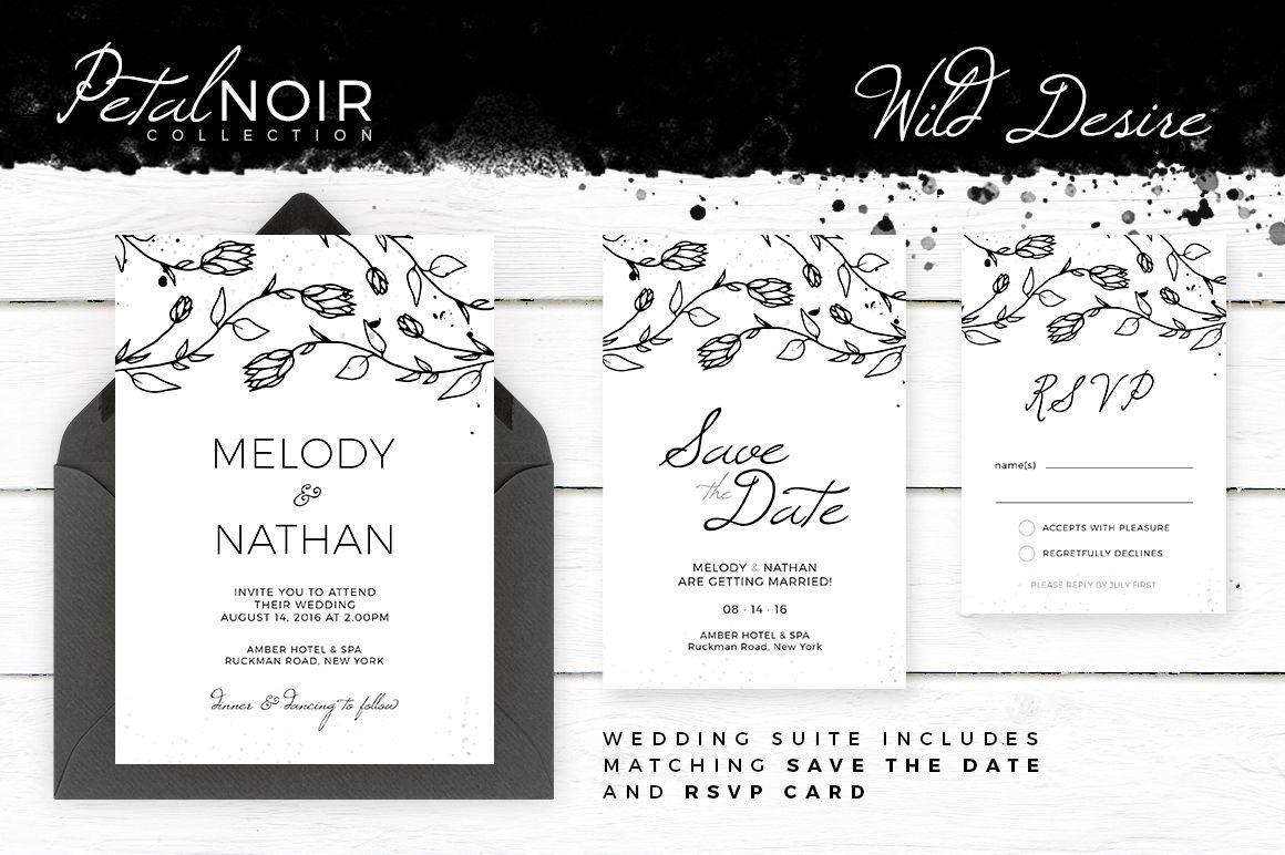 Petal Noir - Wild Desire by AM Studio on @creativemarket wedding ...