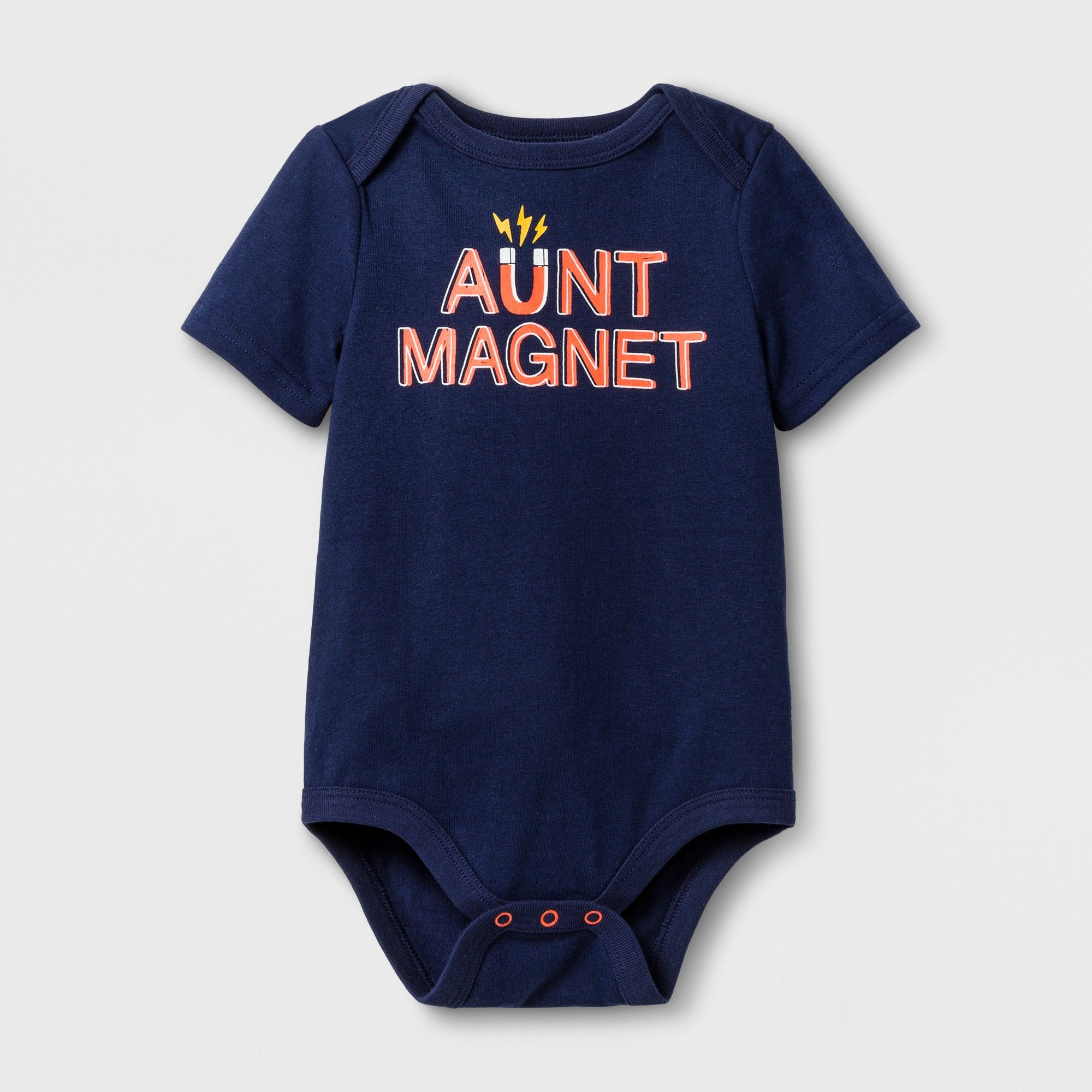 Baby Boys Short Sleeve Aunt Magnet Bodysuit Cat & Jack