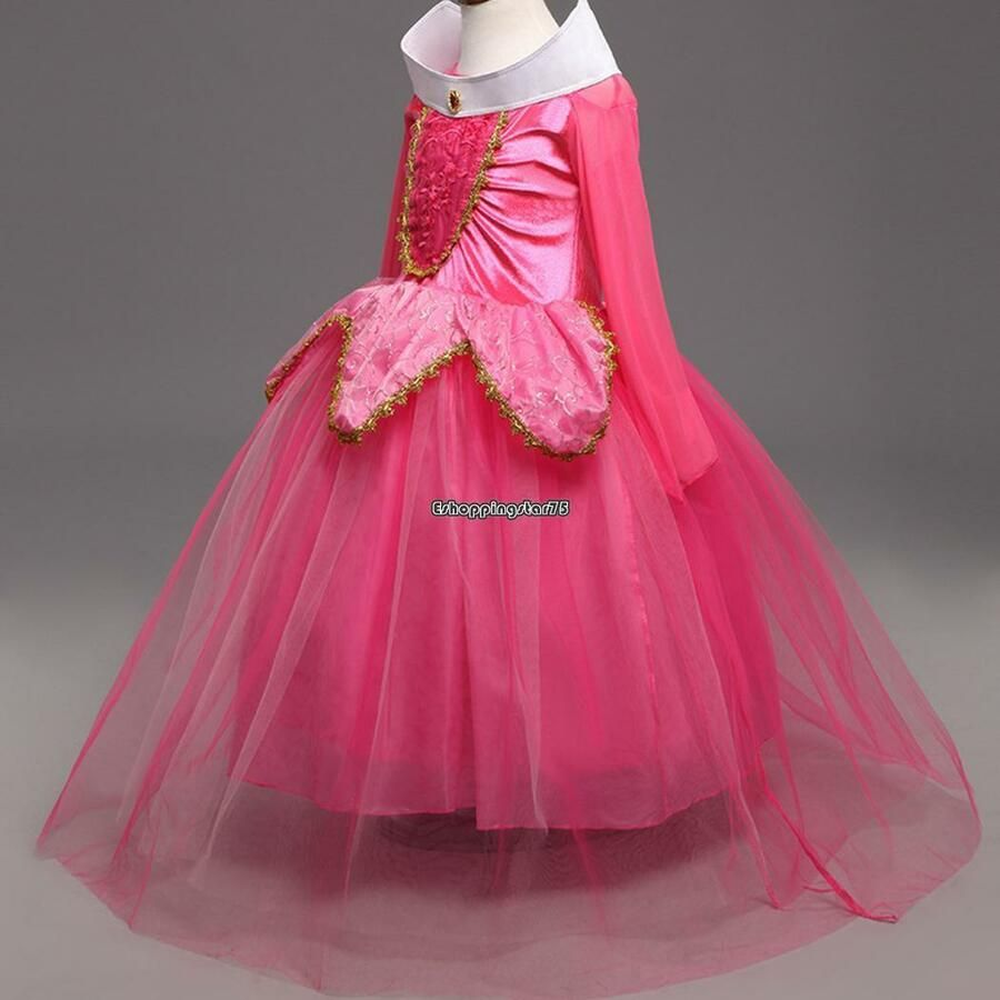 Girls Multi Layers Party Princess Style Costume Cosplay Long Dress EH7E