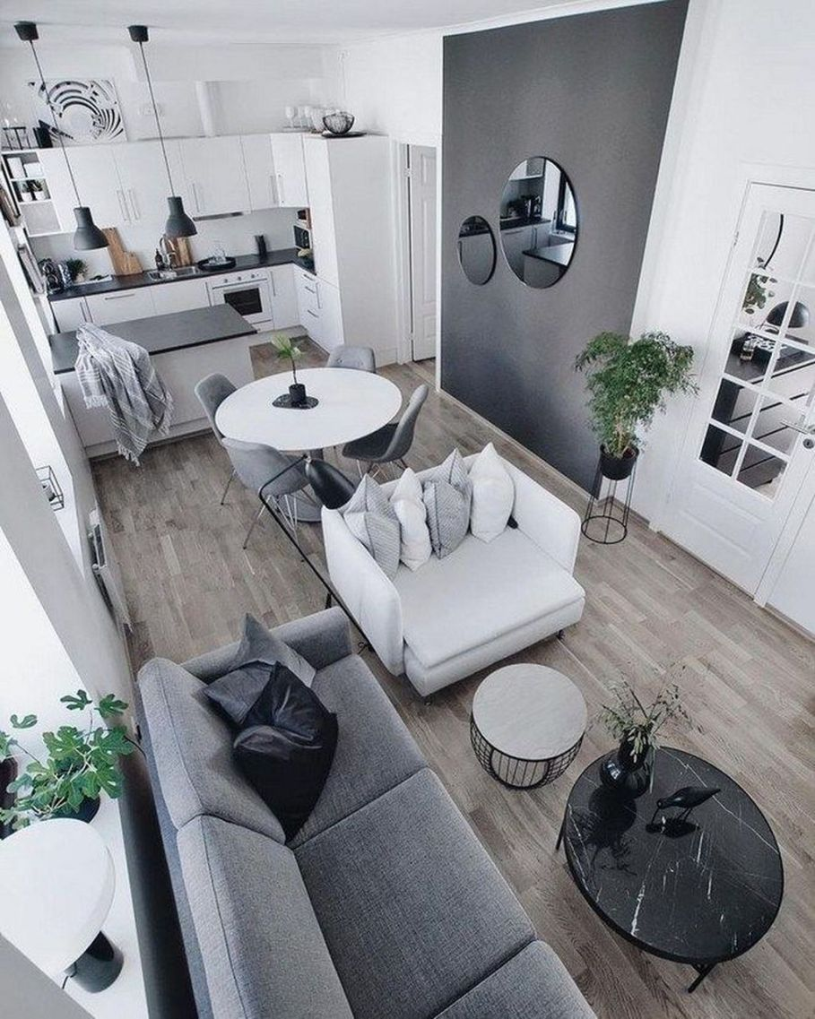Outstanding Small Apartments Design Ideas With Futuristic Style16 In 2020 Small Living Room Decor Living Room Decor Apartment Apartment Living Room Design