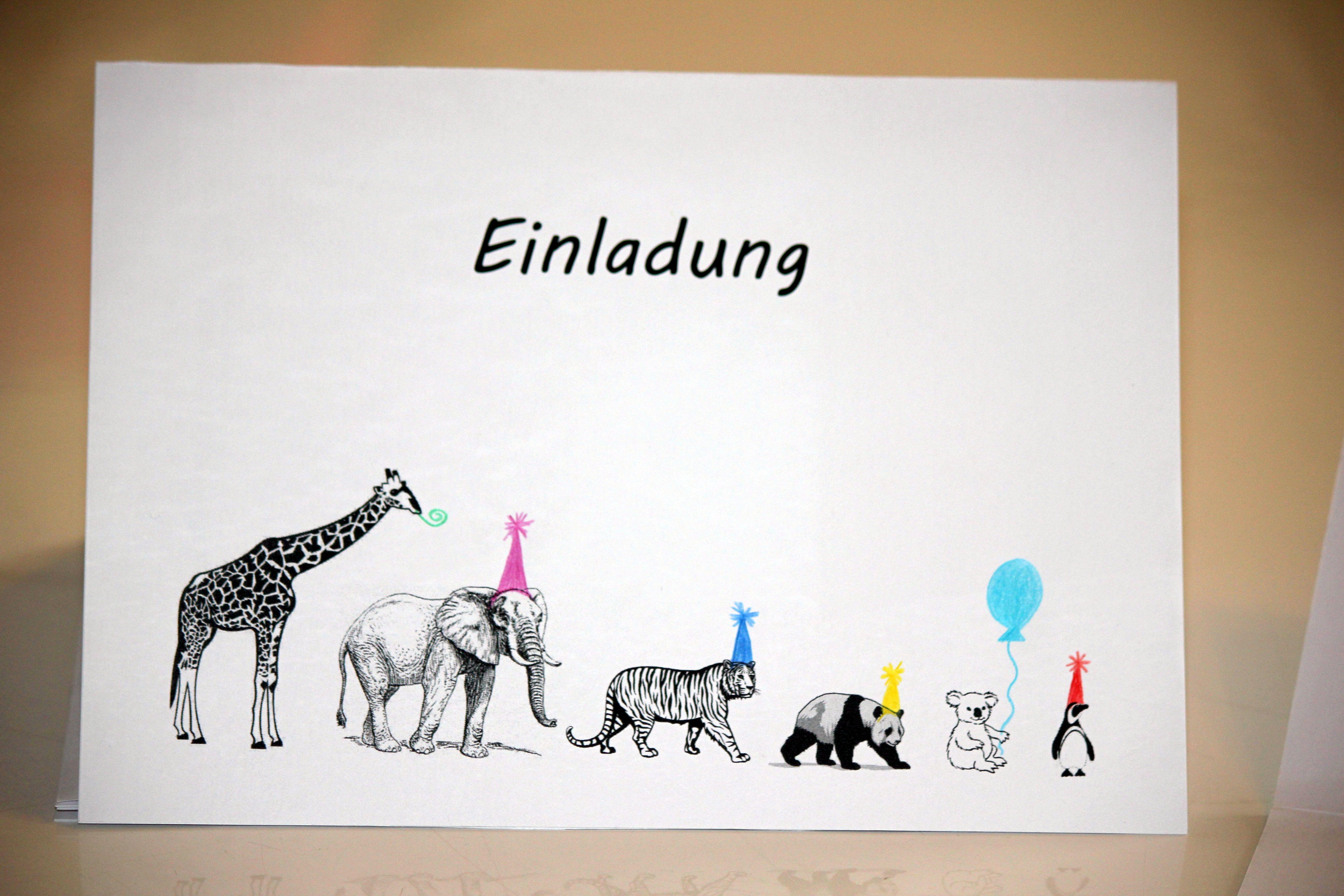 Einladungen Fur Den Kindergeburtstag Im Zoo Einladungskarten