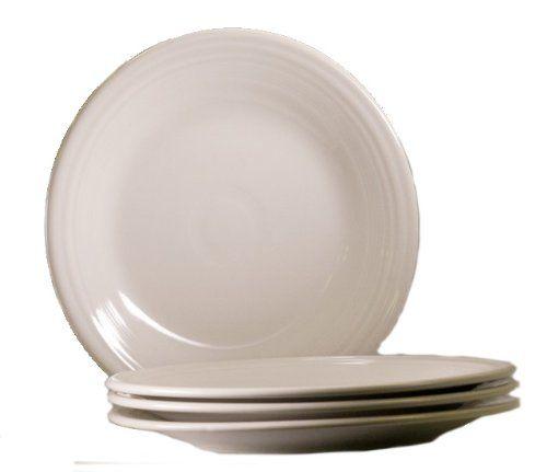 Fiesta 10 1 2 Inch Dinner Plate White Set Of 4 Homer Laughlin Http Www Amazon Com Dp B004bj25xg Ref Cm Sw R Pi Dp White Dinner Plates Dinner Plates Plates