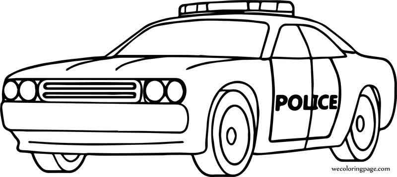 Car Police Perspective Coloring Page Cars Coloring Pages