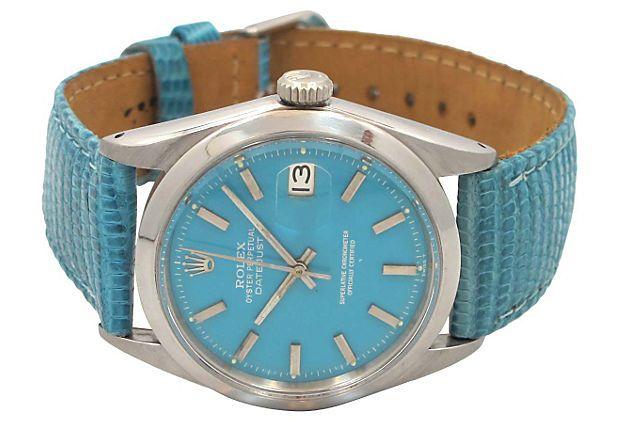Blue Rolex Datejust Automatic, 1967 on OneKingsLane.com