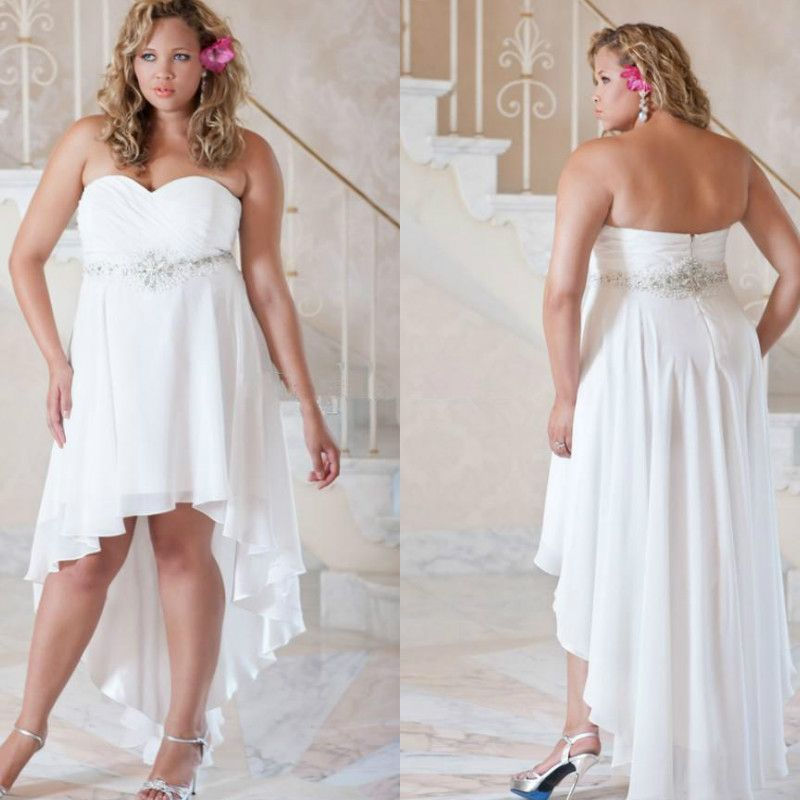 Image result for plus size short white poofy wedding dress with ...