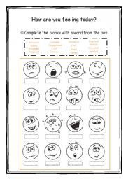 English worksheet: How are you feeling today? | mine | Pinterest ...