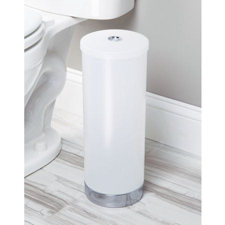 Interdesign Aria Toilet Paper Roll Holder Reserve Canister Frost Walmart Com In 2020 Toilet Paper Roll Holder Interdesign Paper Roll Holders