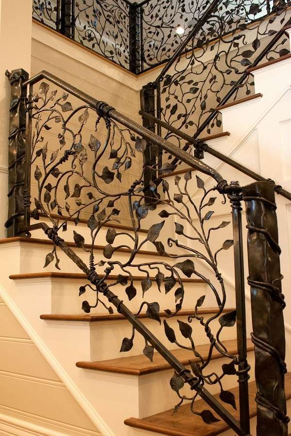 exclusive wrought iron banister ideas interior staircase home