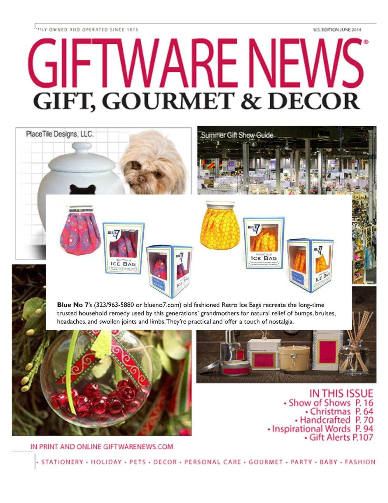 Giftware News Magazine Blue No 7 Vintage Ice Bags Ice Bag Household Remedies Giftware