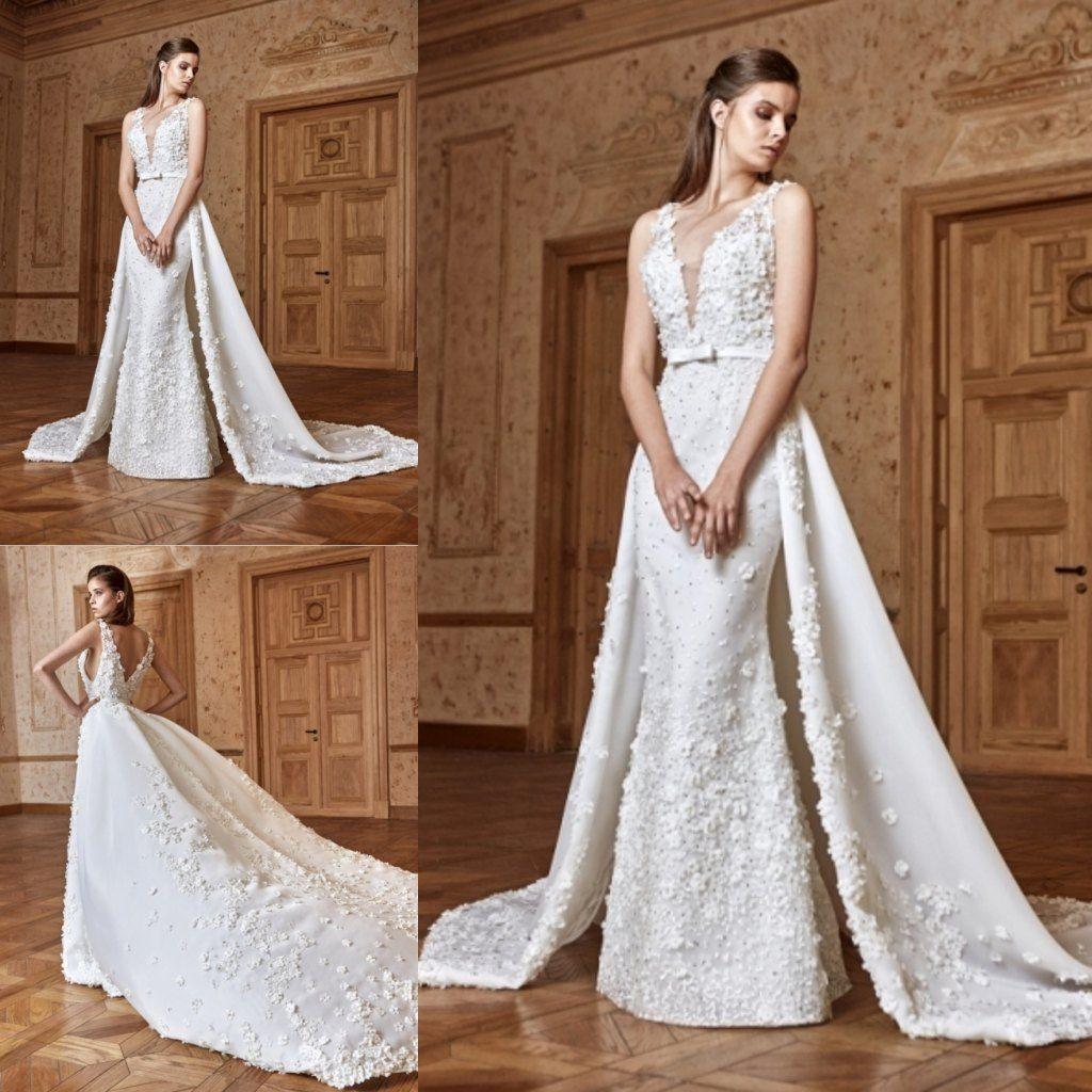 Mermaid wedding dress with detachable train  Cool Awesome White Ivory Mermaid Wedding Dresses  u Detachable