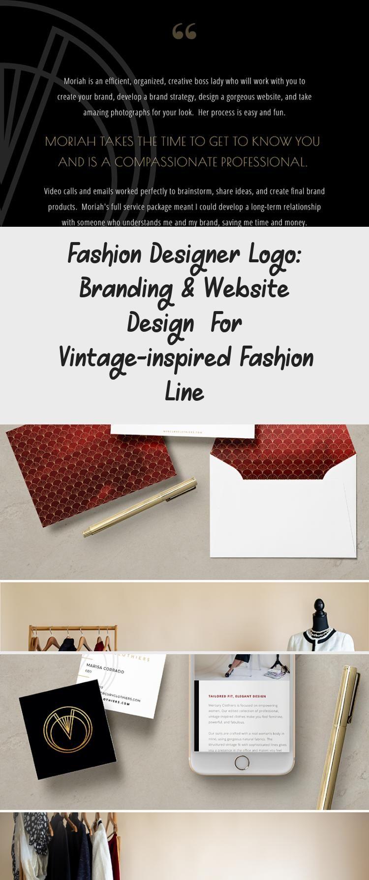Branding For A Fashion Designer Check Out The All New Logo Branding And Custom Showit Website For Mercury In 2020 Bold Logo Design Logo Design Diy Music Logo Design
