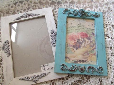 Polymer clay tutorial: How to make shabby chic frame with polymer ...