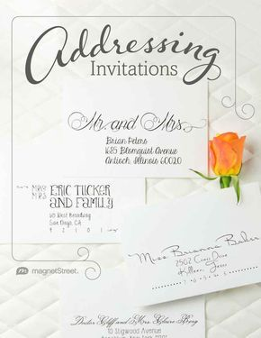 Learn How To Properly Address Wedding Invites Based On Relationship Statu Addressing Wedding Invitations Wedding Invitation Etiquette Words Wedding Invitations