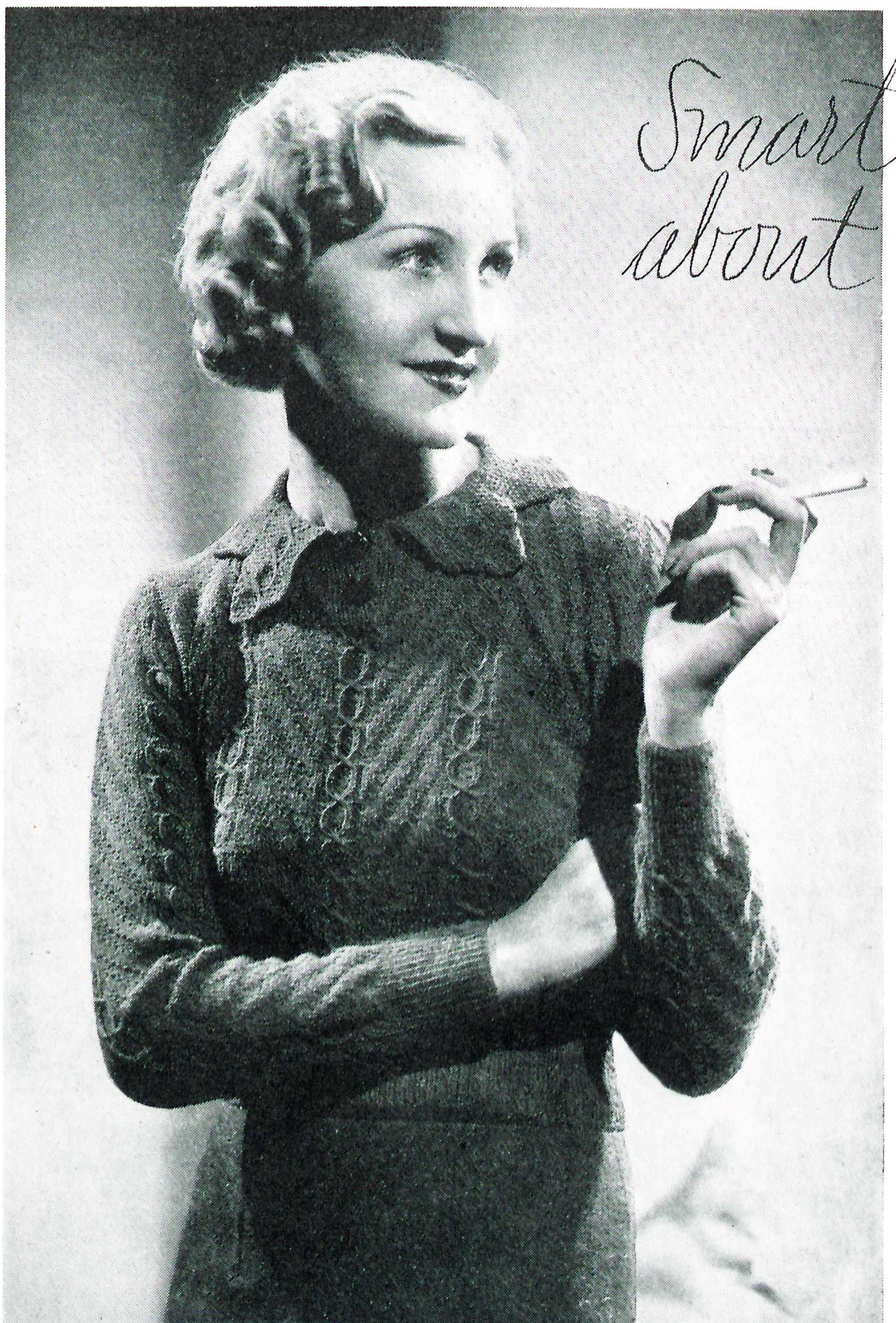 free vintage knitting pattern 30s jumper | knitting is my life ...