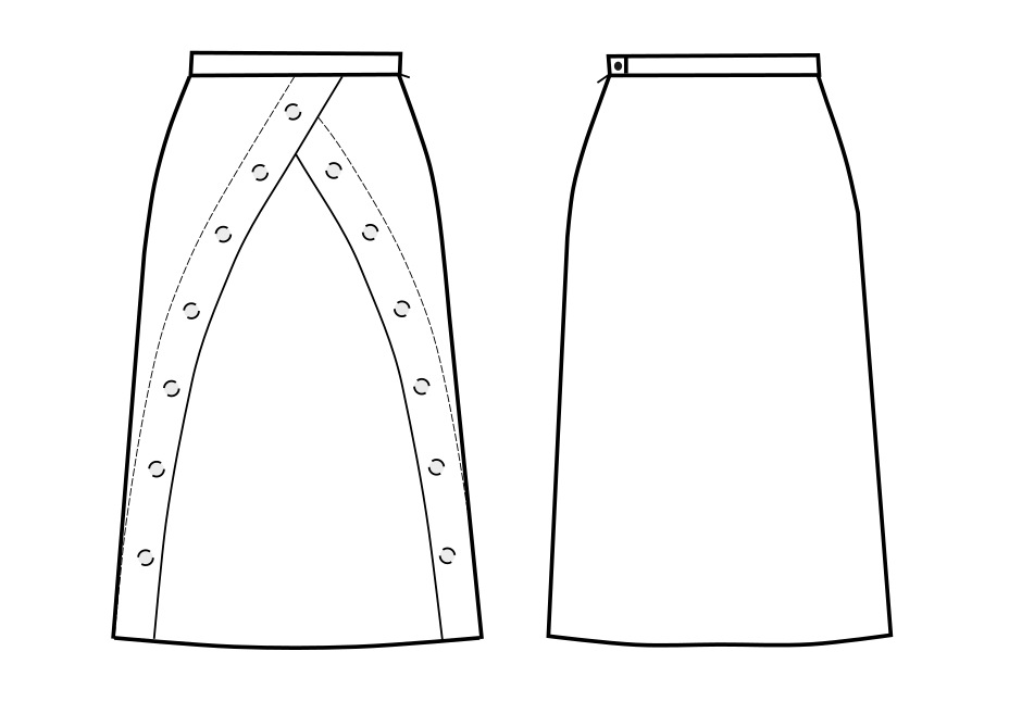 A-Line Skirt - Sewing Pattern #S3020 Made-to-measure sewing pattern ...