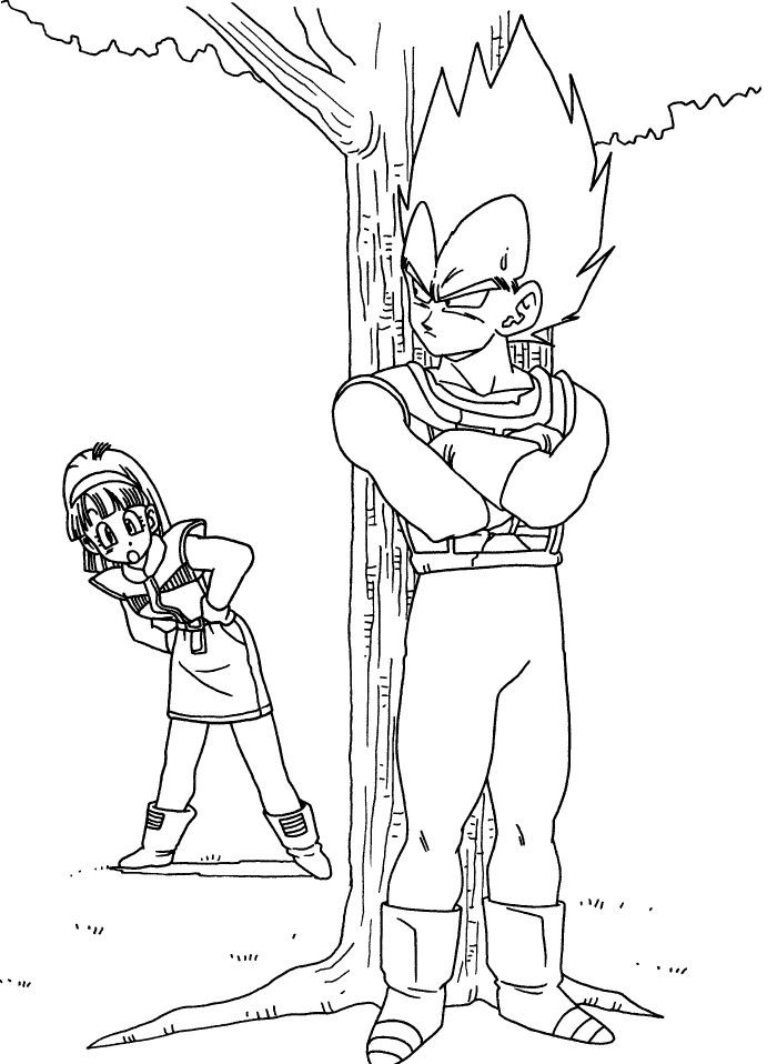 Dragon Ball Vegeta And Bulma Coloring Pages | Vegeta and Bulma ...