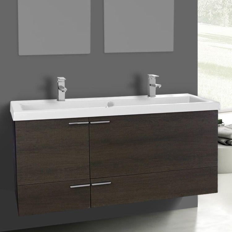 Bathroom Vanity, ACF ANS1106, 47 Inch Grey Oak Bathroom ...