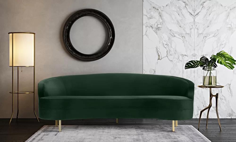 Willa Arlo Interiors Hewitt Sofa   Green velvet sofa ...