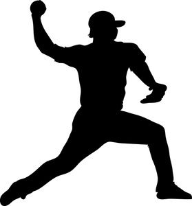 Baseball Player Throwing Silhouette Stencil Silhouette Free Clip Art