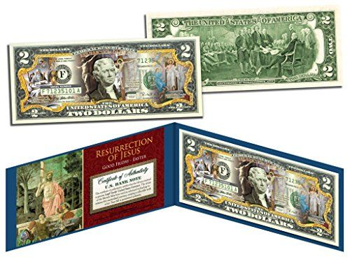 Happy easter religious gift colorized 2 bill us legal tender with happy easter religious gift colorized 2 bill us legal tender with folio check this negle Image collections