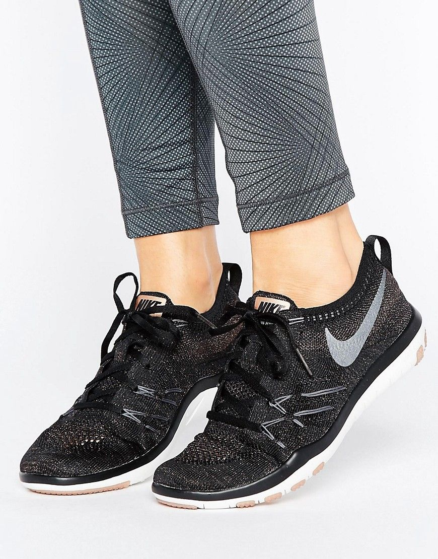 de Tr deporte Zapatillas de Flyknit Free Nike negras Training PCwCdIq