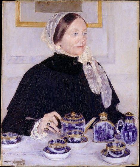 Mary Cassatt, Lady at the Tea Table 1883-85 on ArtStack #mary-cassatt #art