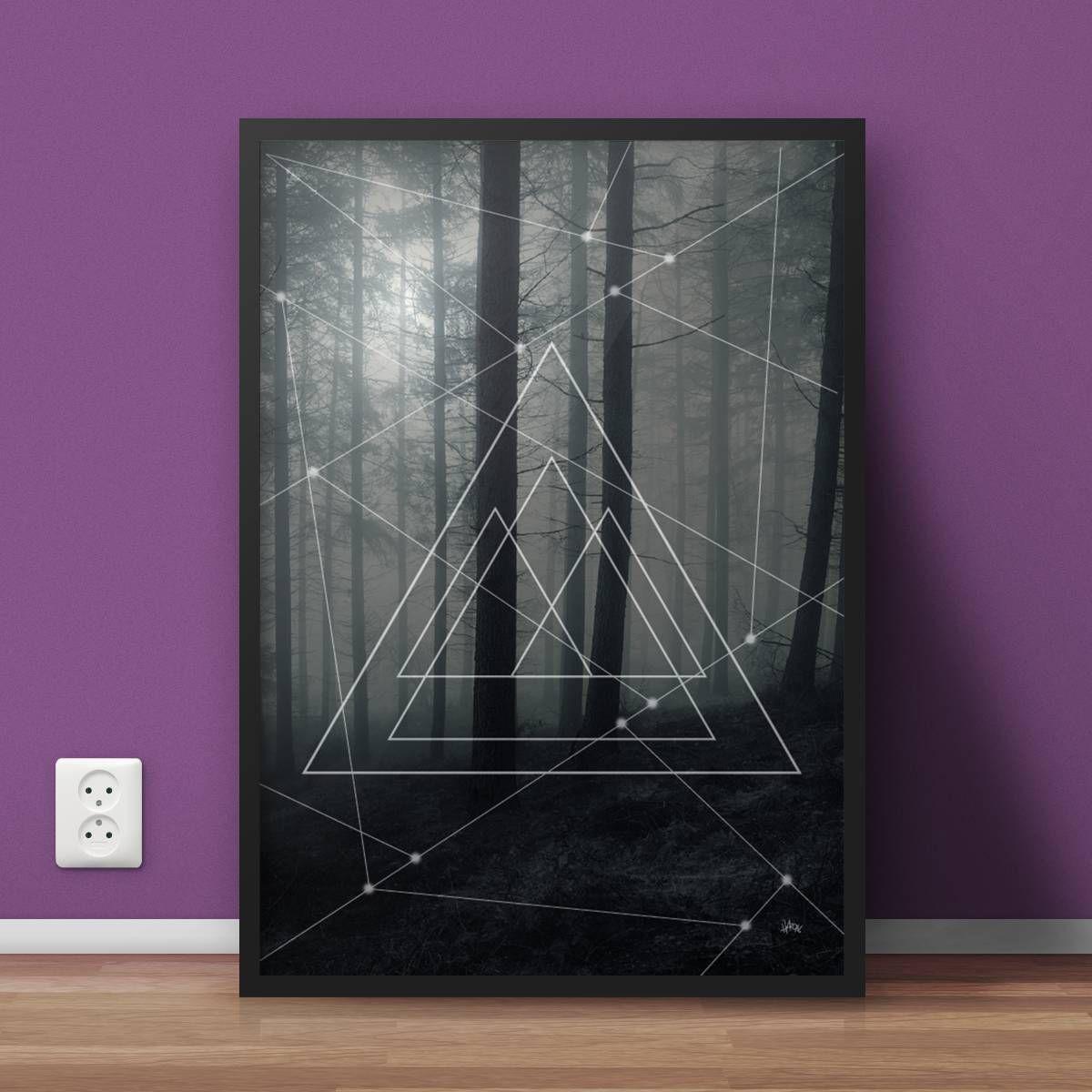 poster - tree angle - decoração sem marca